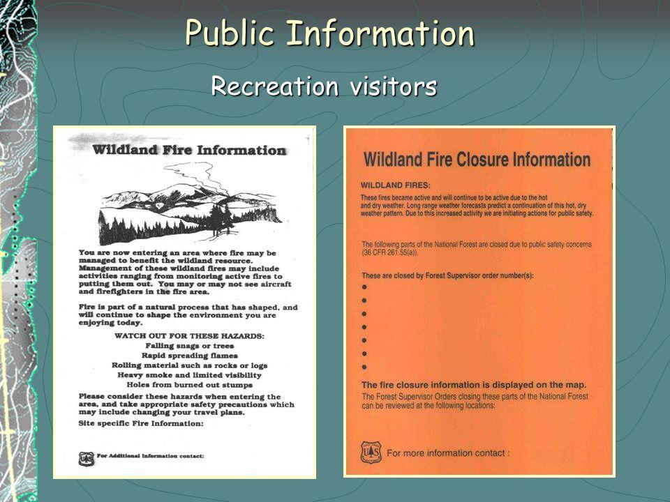 Public Information Recreation visitors