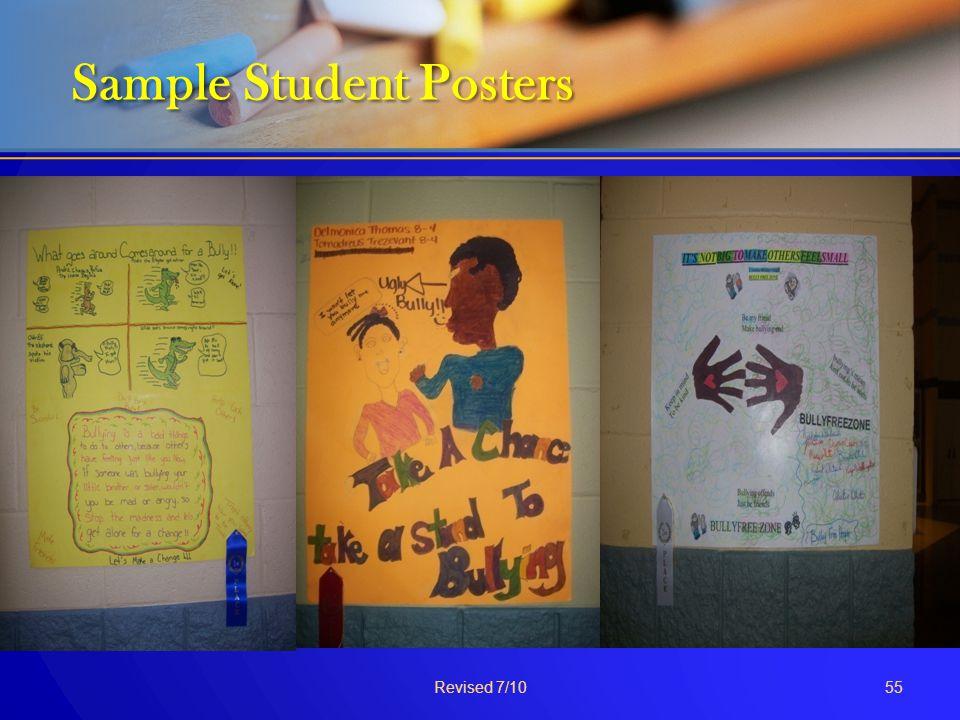 Sample Student Posters Sample Student Posters Revised 7/1055