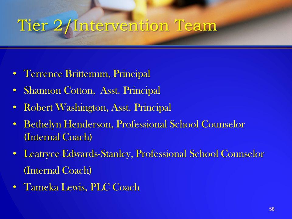 Terrence Brittenum, Principal Terrence Brittenum, Principal Shannon Cotton, Asst. Principal Shannon Cotton, Asst. Principal Robert Washington, Asst. P