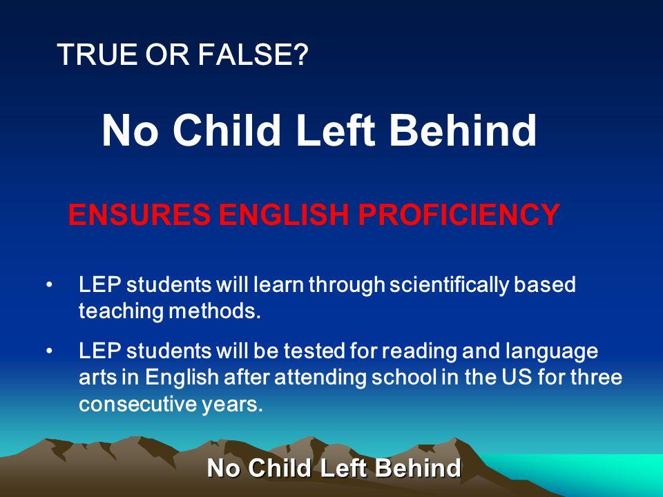 No Child Left Behind Teaching Continuum: Intern Preliminary-BTSA Clear-150 hours