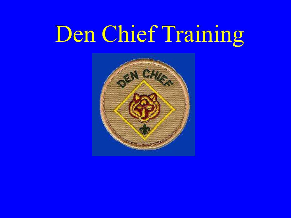 Resources for Den Chiefs Den Chief Handbook Cub Scout specific handbooks Cub Scout Leader s How To Book Internet Cub Scout Fun and Activities Book Group Meeting Sparklers Adult Leaders