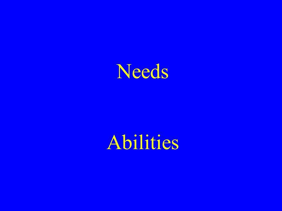 Needs Abilities