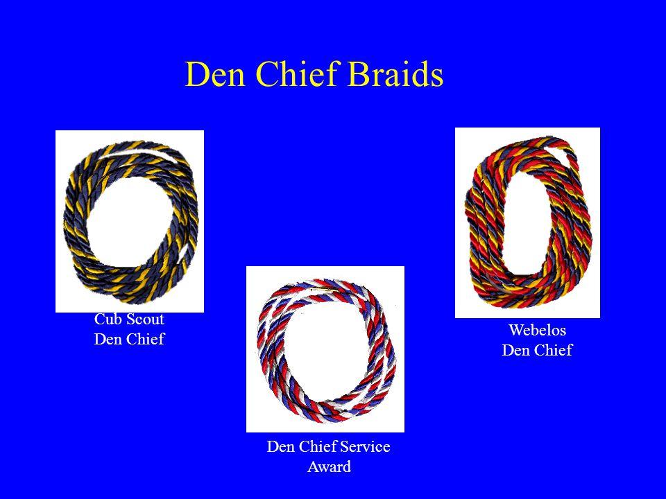 Den Chief Service Award Webelos Den Chief Cub Scout Den Chief Den Chief Braids