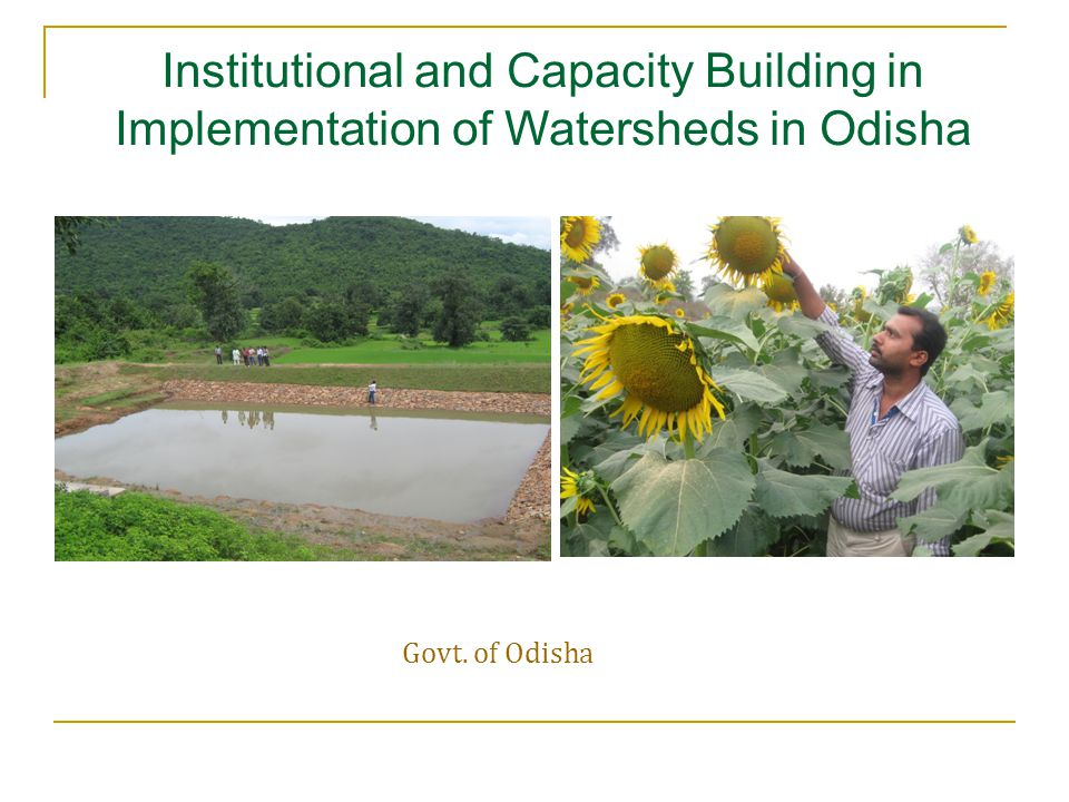 Cluster Livelihood Resource Centers Purpose : To address capacity building needs of the primary stakeholders Knowledge services CLW(NRM) training at Rayagada,OPDSC Skill development on Hotel and Catering Services at SIHM,Bolangir