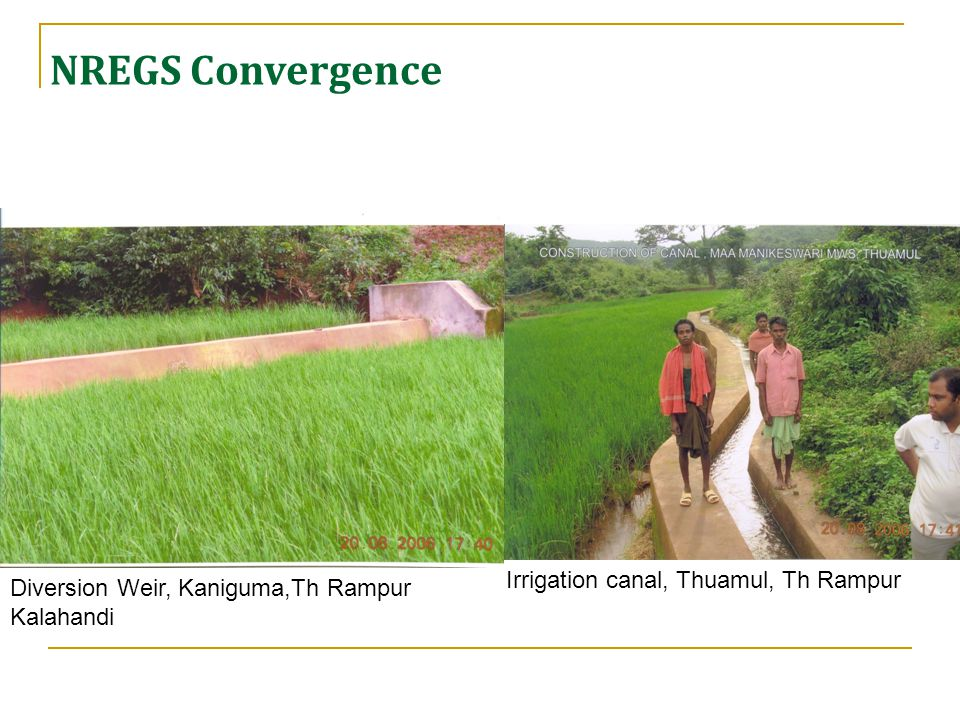 Diversion Weir, Kaniguma,Th Rampur Kalahandi Irrigation canal, Thuamul, Th Rampur NREGS Convergence