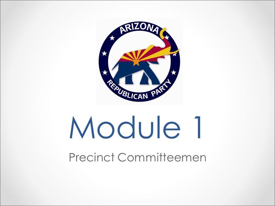 Module 1 Precinct Committeemen