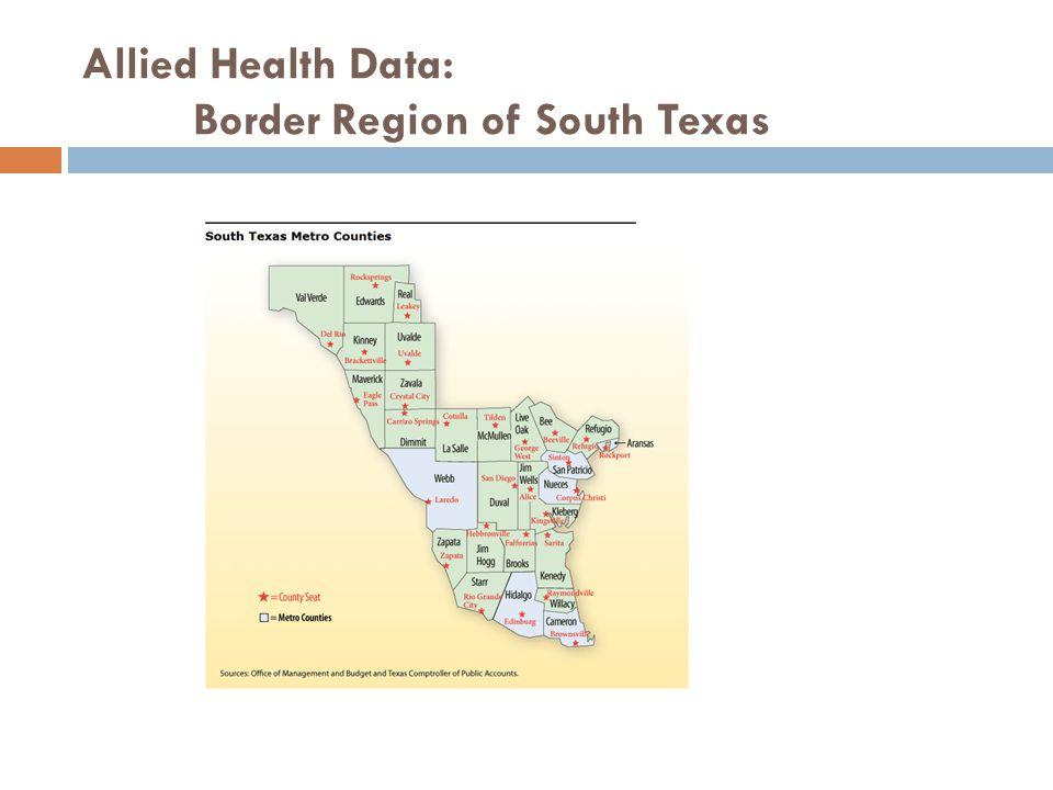 Allied Health Data: Border Region of South Texas