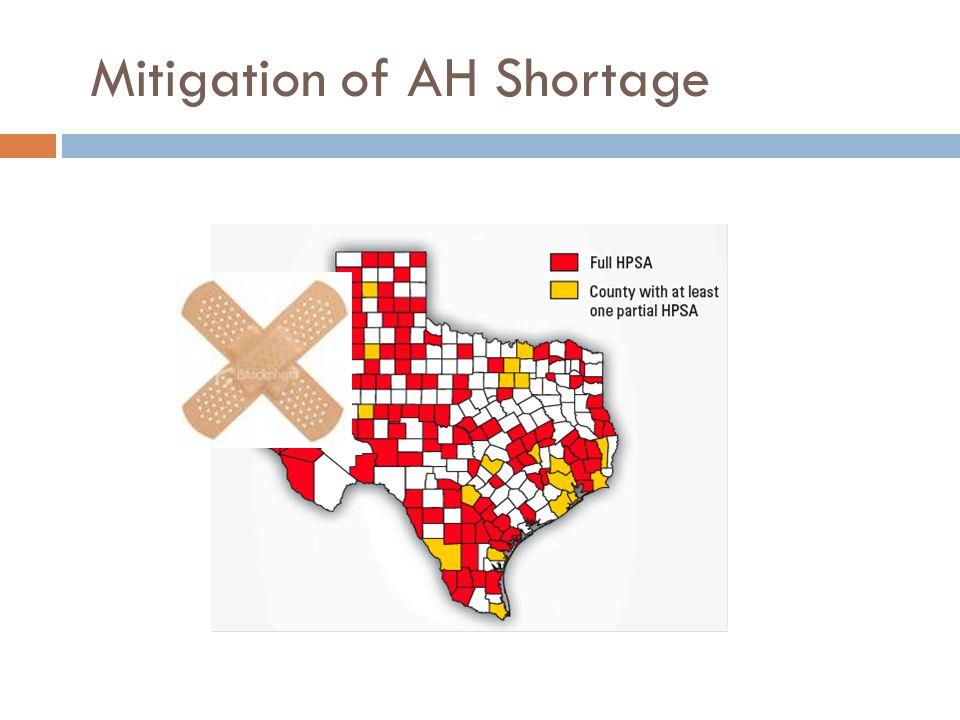Mitigation of AH Shortage