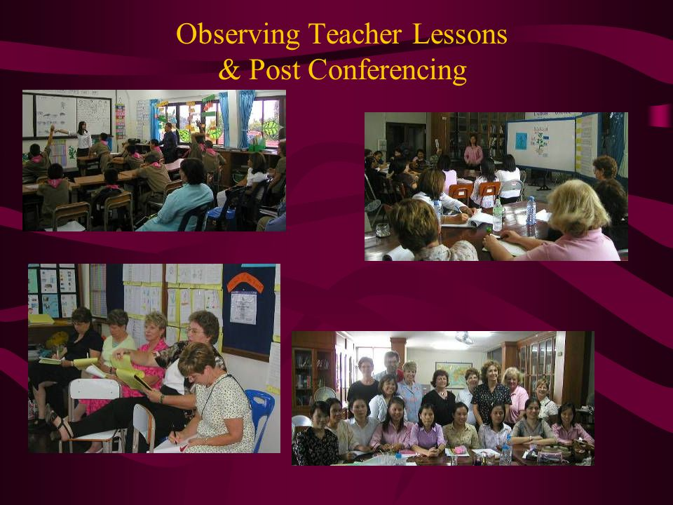 Observing Teacher Lessons & Post Conferencing