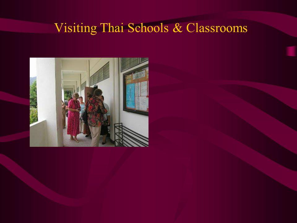 Visiting Thai Schools & Classrooms