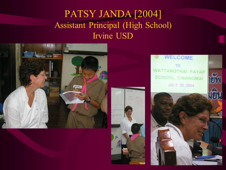 PATSY JANDA [2004] Assistant Principal (High School) Irvine USD