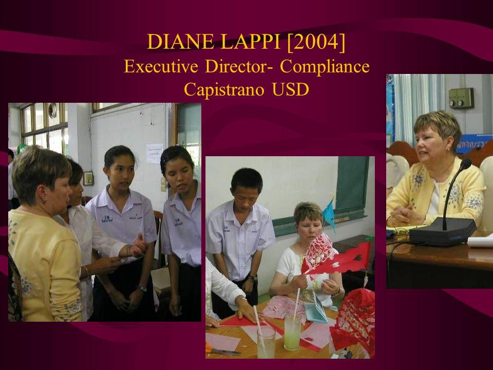 DIANE LAPPI [2004] Executive Director- Compliance Capistrano USD