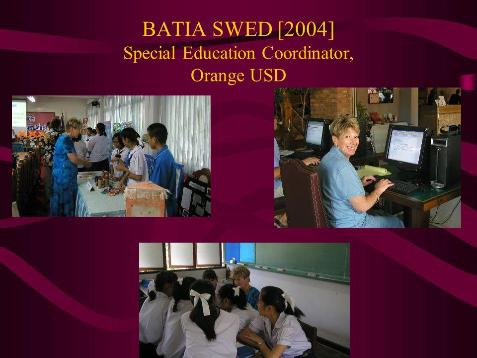 BATIA SWED [2004] Special Education Coordinator, Orange USD