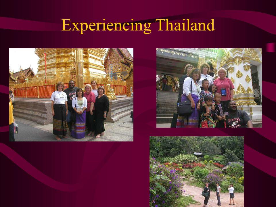 Experiencing Thailand