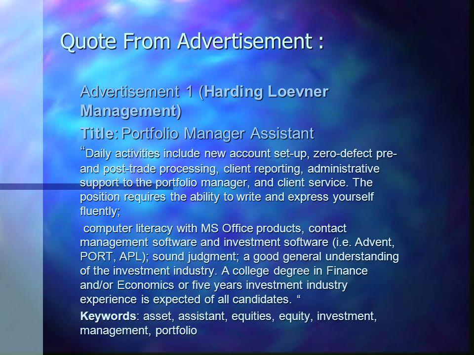 Adverisement 2 Career Moves, Inc.