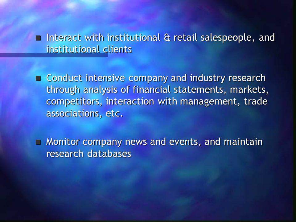 Specific Skills: 1.Analytic skill 1. Analytic skill 2.