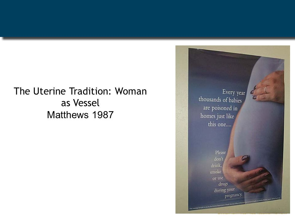 The Uterine Tradition: Woman as Vessel Matthews 1987