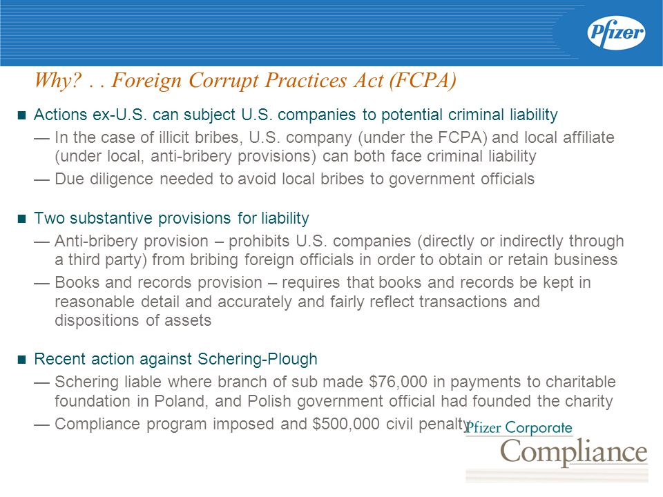 Why .. Foreign Corrupt Practices Act (FCPA) Actions ex-U.S.
