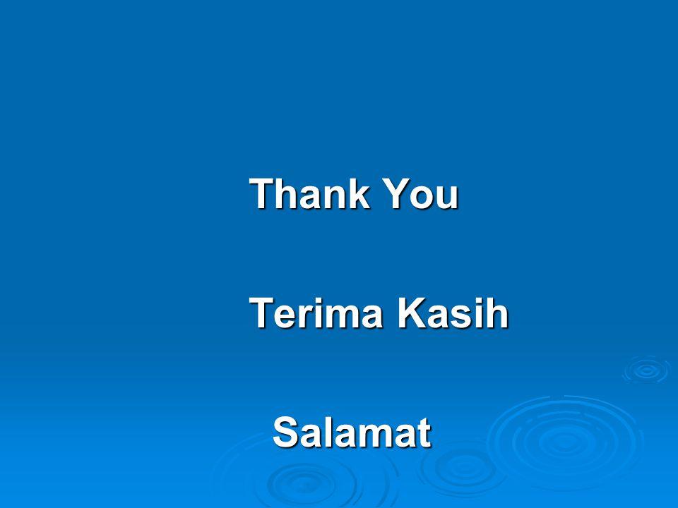 Thank You Thank You Terima Kasih Terima Kasih Salamat Salamat