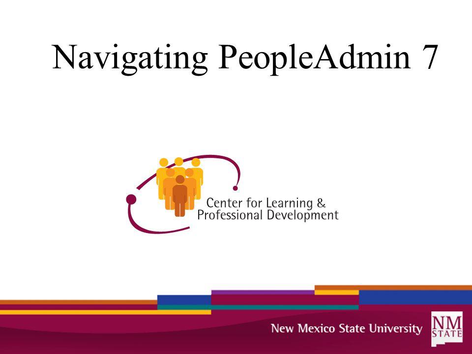Navigating PeopleAdmin 7