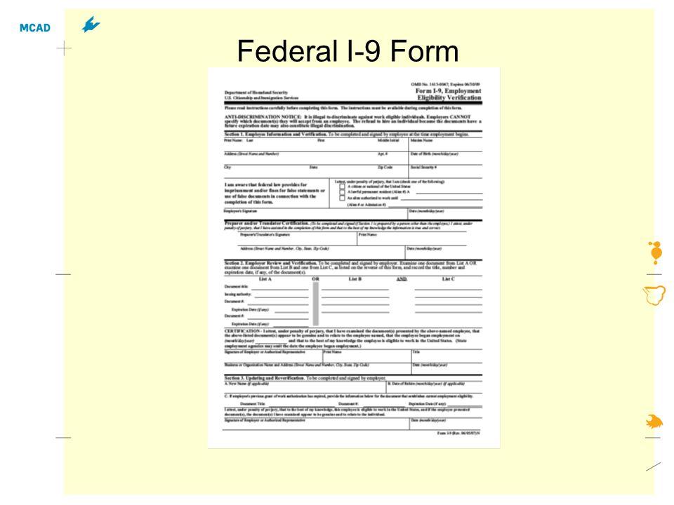 Federal I-9 Form