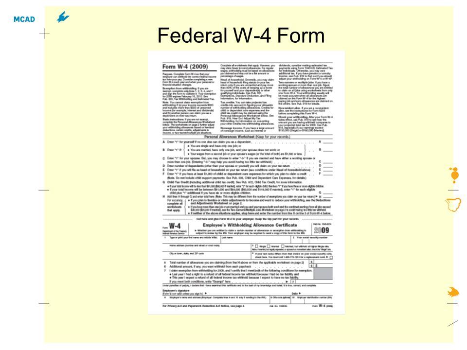 Federal W-4 Form