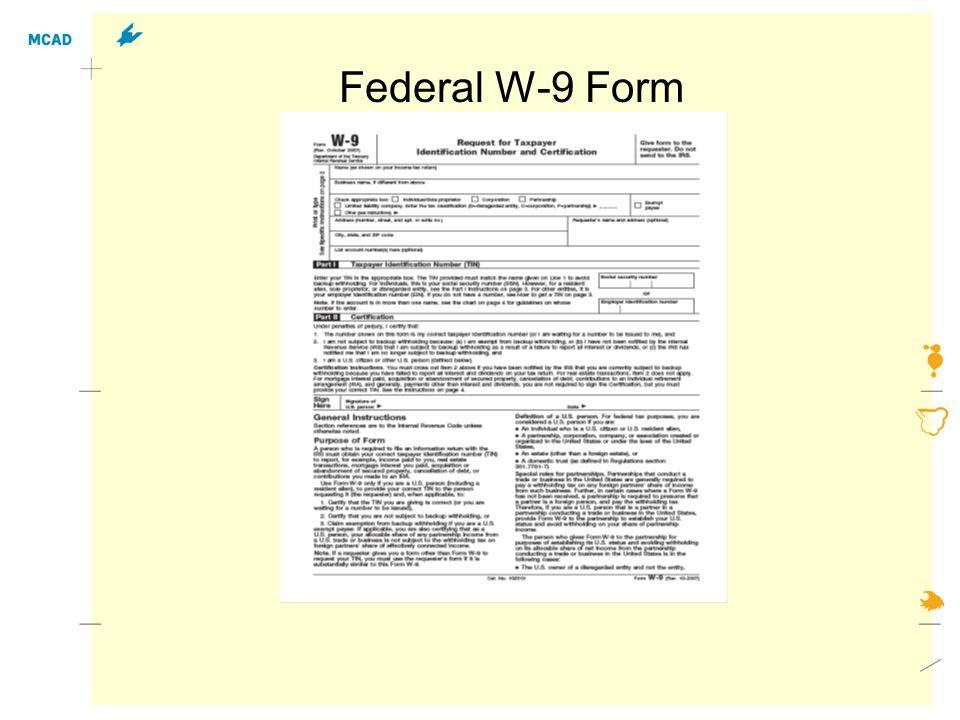 Federal W-9 Form