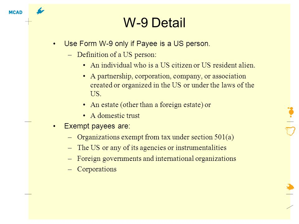 W-8 Form, page 1