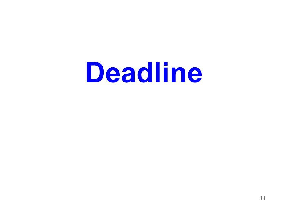Deadline 11