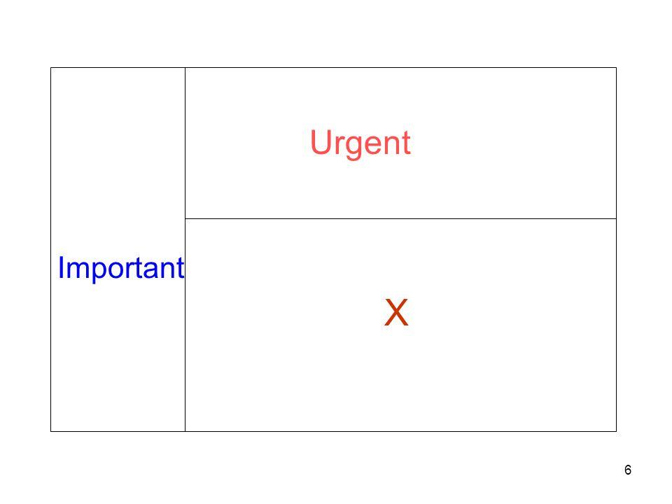 Important Urgent X 6