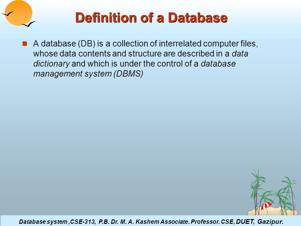 ©Silberschatz, Korth and Sudarshan4.3Database System Concepts Database system,CSE-313, P.B.