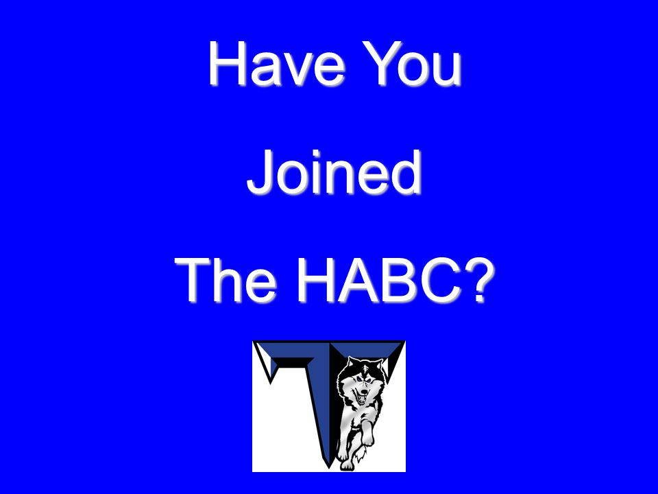 Have You Joined The HABC?