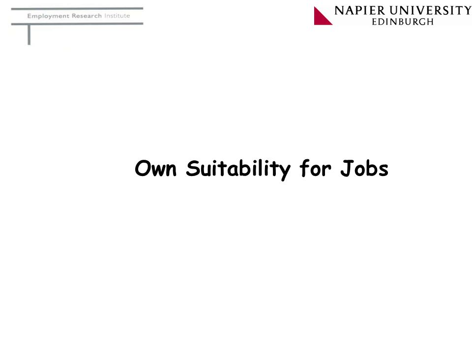 Own Suitability for Jobs