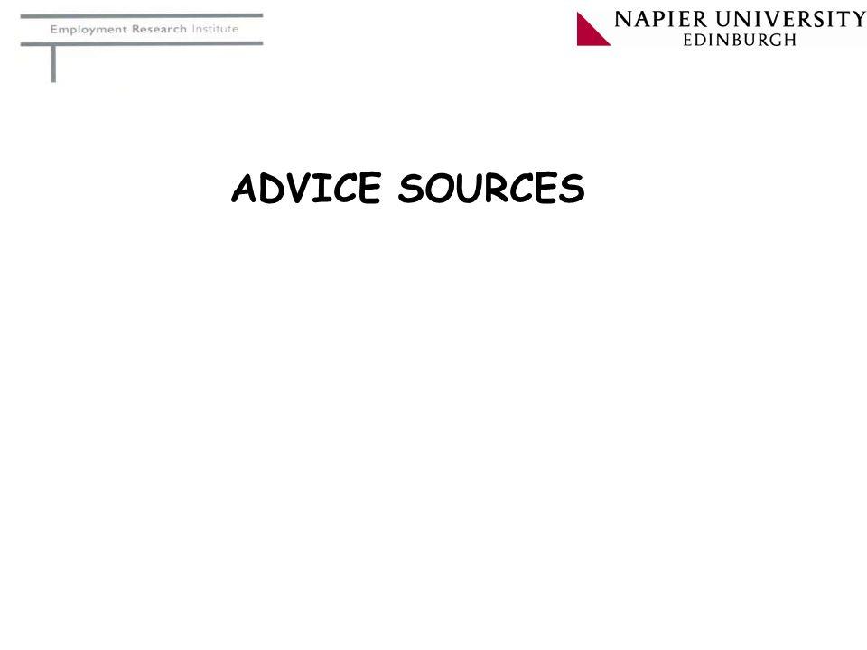 ADVICE SOURCES