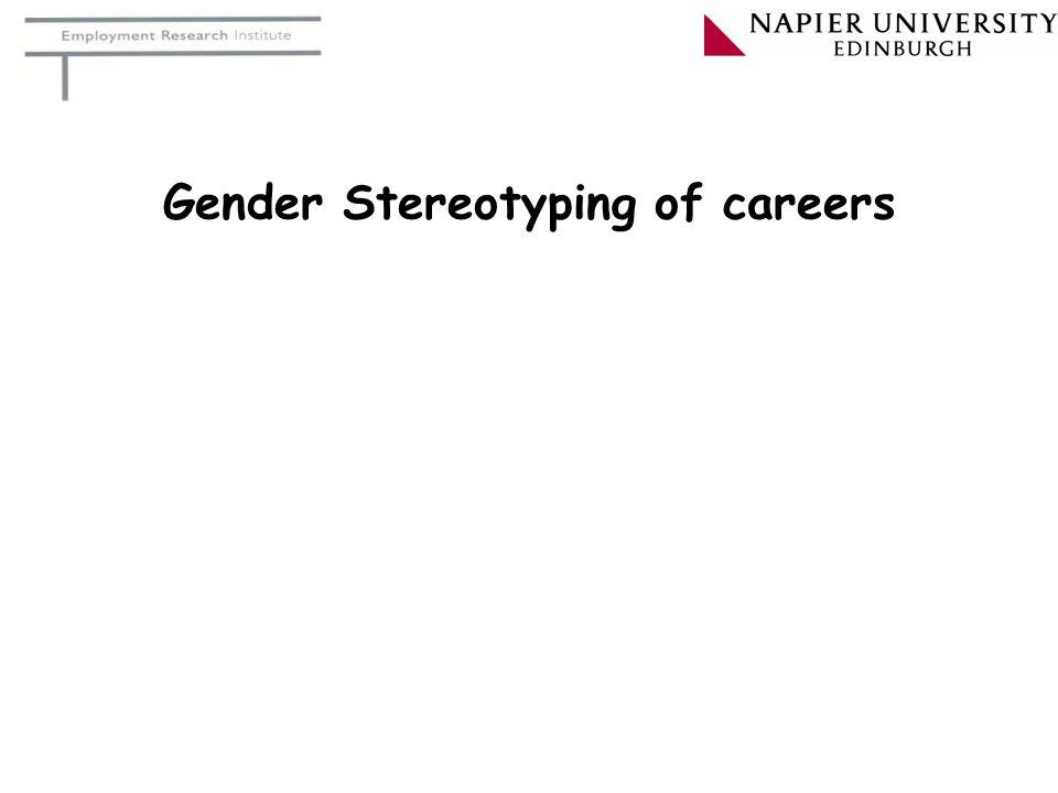 Gender Stereotyping of careers