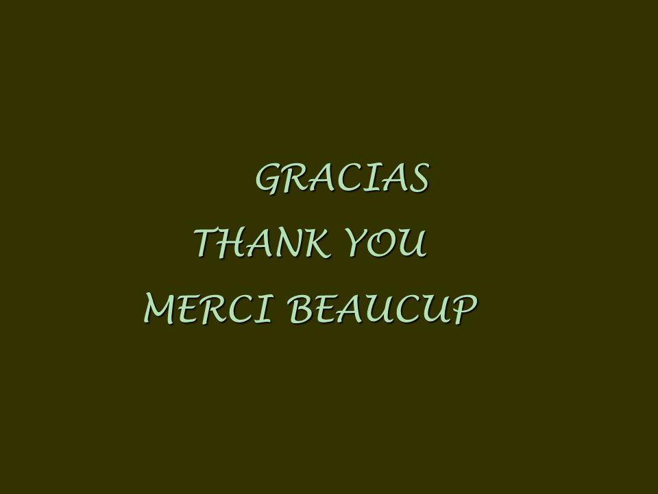 GRACIAS THANK YOU MERCI BEAUCUP