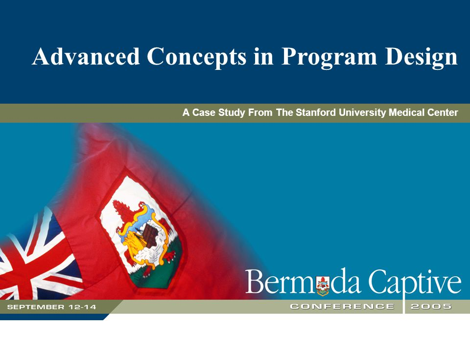 Advanced Concepts in Program Design A Case Study From The Stanford University Medical Center