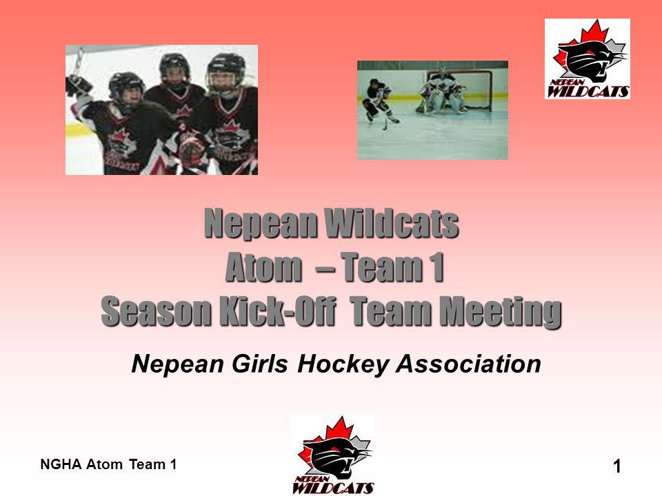 NGHA Atom Team 1 1 Nepean Wildcats Atom – Team 1 Season Kick-Off Team Meeting Nepean Girls Hockey Association