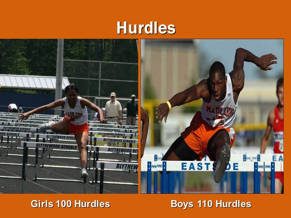 Hurdles Girls 100 Hurdles Boys 110 Hurdles