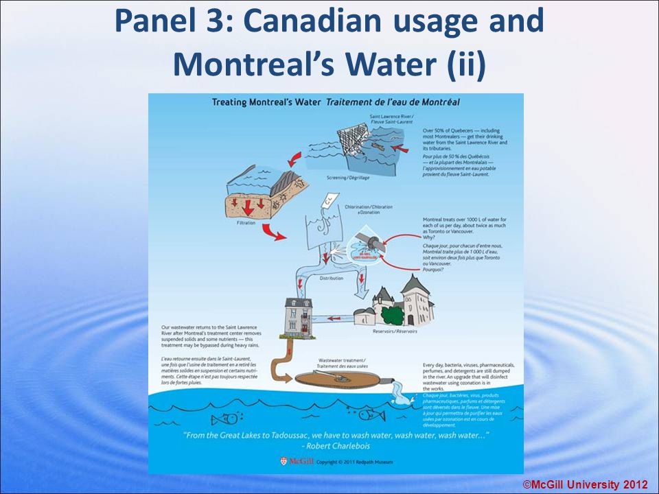 Panel 3: Canadian usage and Montreal's Water (ii) ©McGill University 2012
