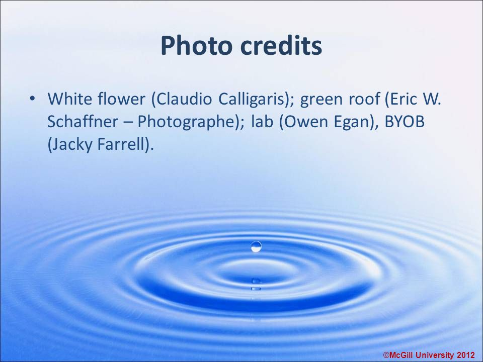 Photo credits White flower (Claudio Calligaris); green roof (Eric W.
