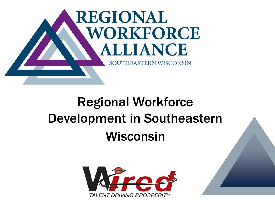Milwaukee 7 RWA Steering Committee Next Generation Manufacturing Water Industries Financial Services (Feb 2008) M7 Industry Councils Demand Side Supply Side Workforce Development Board (WDB) K-16 Education Committees Chief elected officials from 7 counties Ad hoc (TBD) Staff Milwaukee 7 RWA Steering Committee Next Generation Manufacturing Water Council Financial Services (Feb 2008) M7 Industry Councils Demand Side Supply Side Workforce Development Board (WDB) K-16 Education Committees RWA Leadership Team RWA Oversight Board Ad hoc (TBD) Regional Workforce Alliance Governance Structure