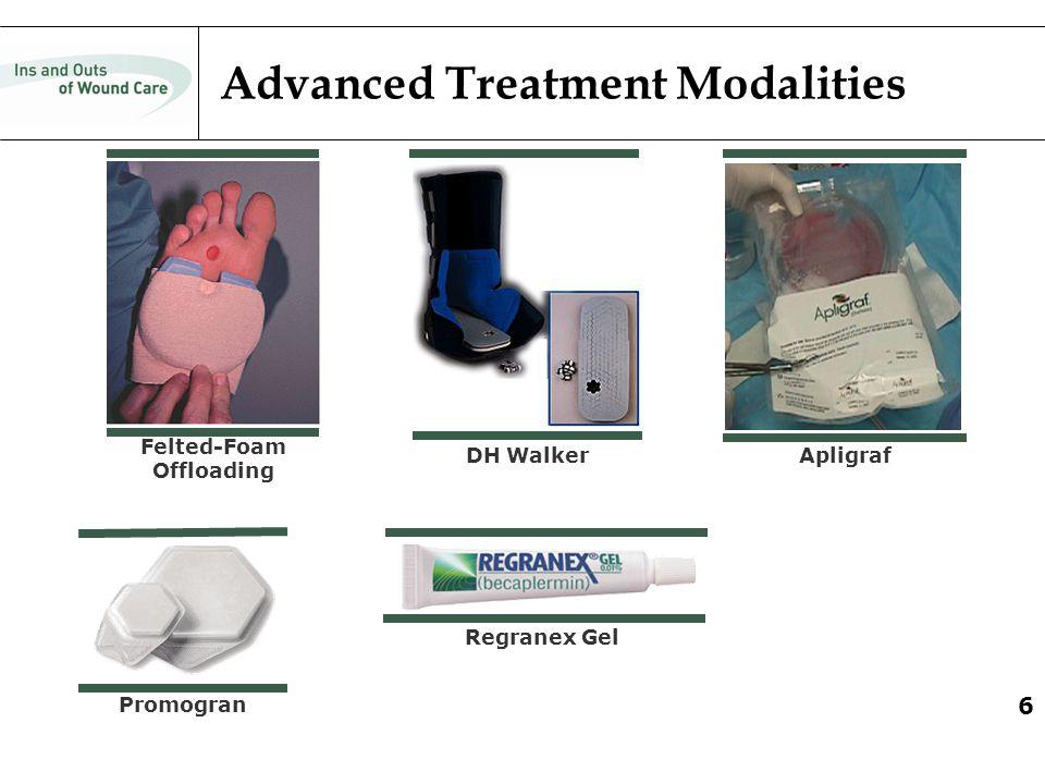 6 Advanced Treatment Modalities DH Walker Felted-Foam Offloading Apligraf Regranex Gel Promogran 6
