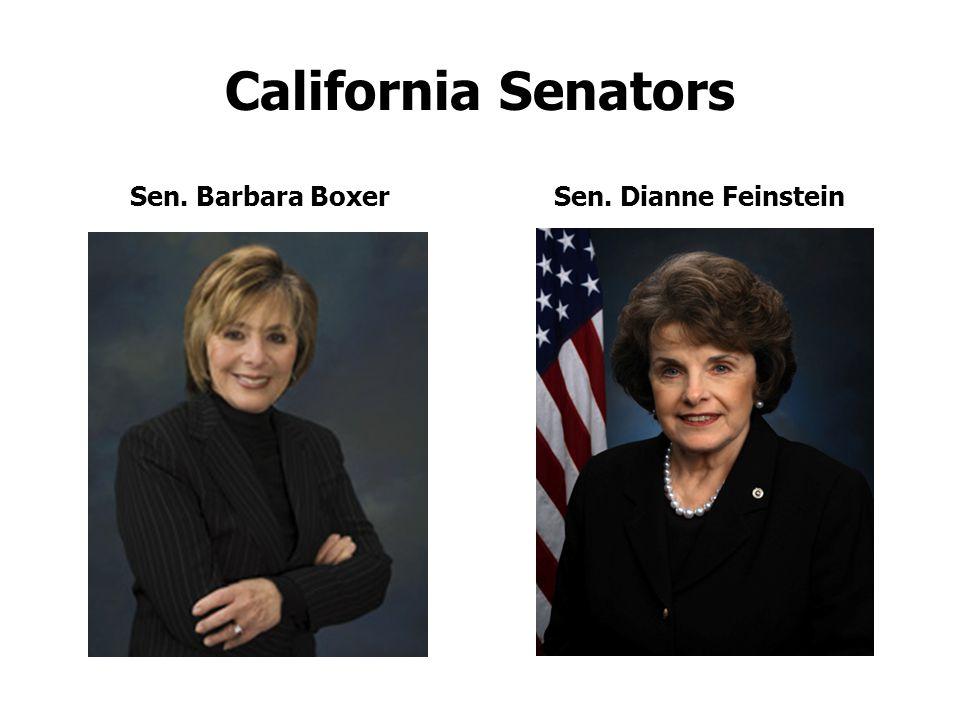 California Senators Sen. Barbara BoxerSen. Dianne Feinstein