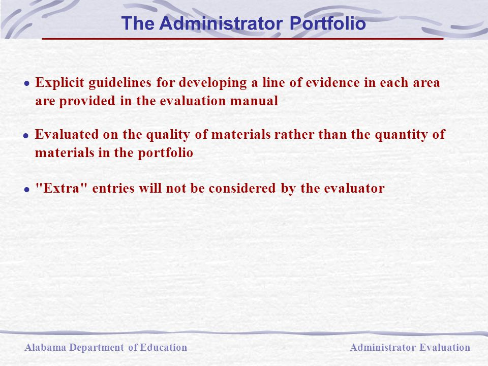  Explicit guidelines for developing a line of evidence in each area are provided in the evaluation manual