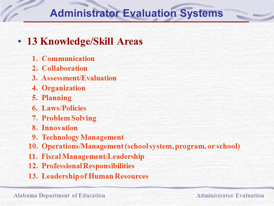 13 Knowledge/Skill Areas 1. Communication 2. Collaboration 3.