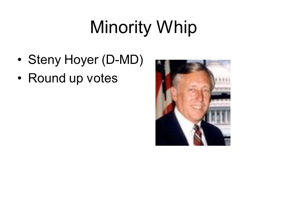 Minority Whip Steny Hoyer (D-MD) Round up votes