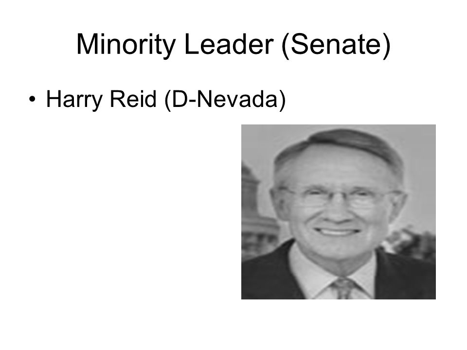 Minority Leader (Senate) Harry Reid (D-Nevada)