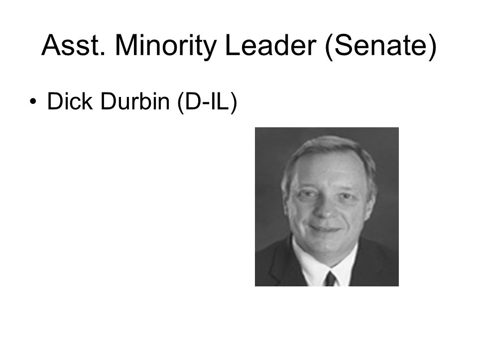 Asst. Minority Leader (Senate) Dick Durbin (D-IL)