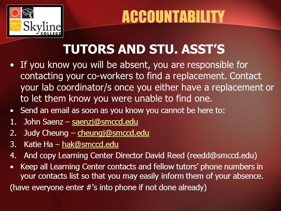 ACCOUNTABILITY TUTORS AND STU.